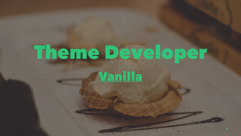 Theme Developer Vanilla 6
