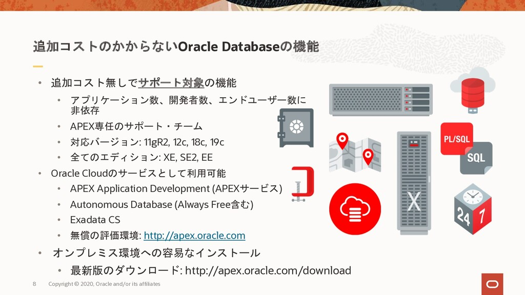 8 Copyright © 2020, Oracle and/or its affiliate...