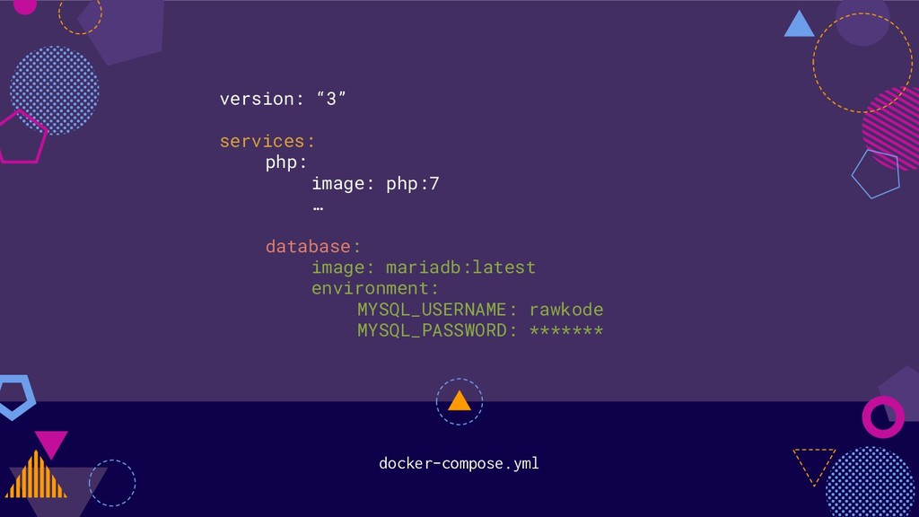 """docker-compose.yml version: """"3"""" services: php: ..."""