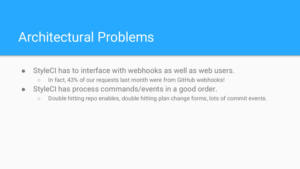 ● StyleCI has to interface with webhooks as wel...