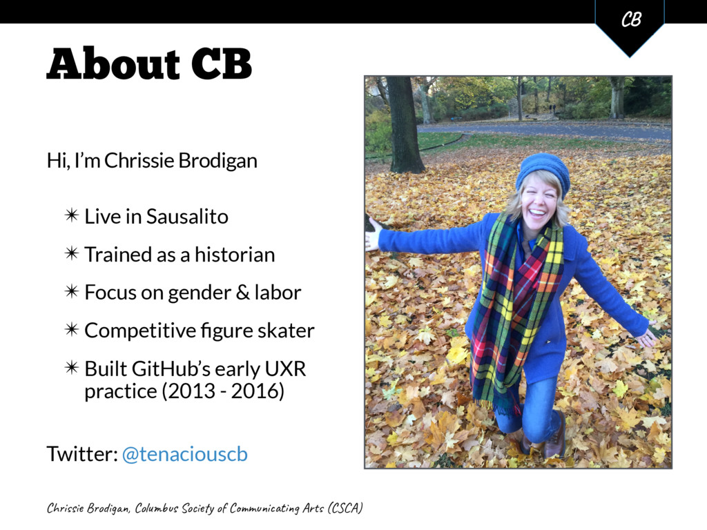 Chis Bog, Cols Soy o Cmit Ar (CA) C 2 About CB ...