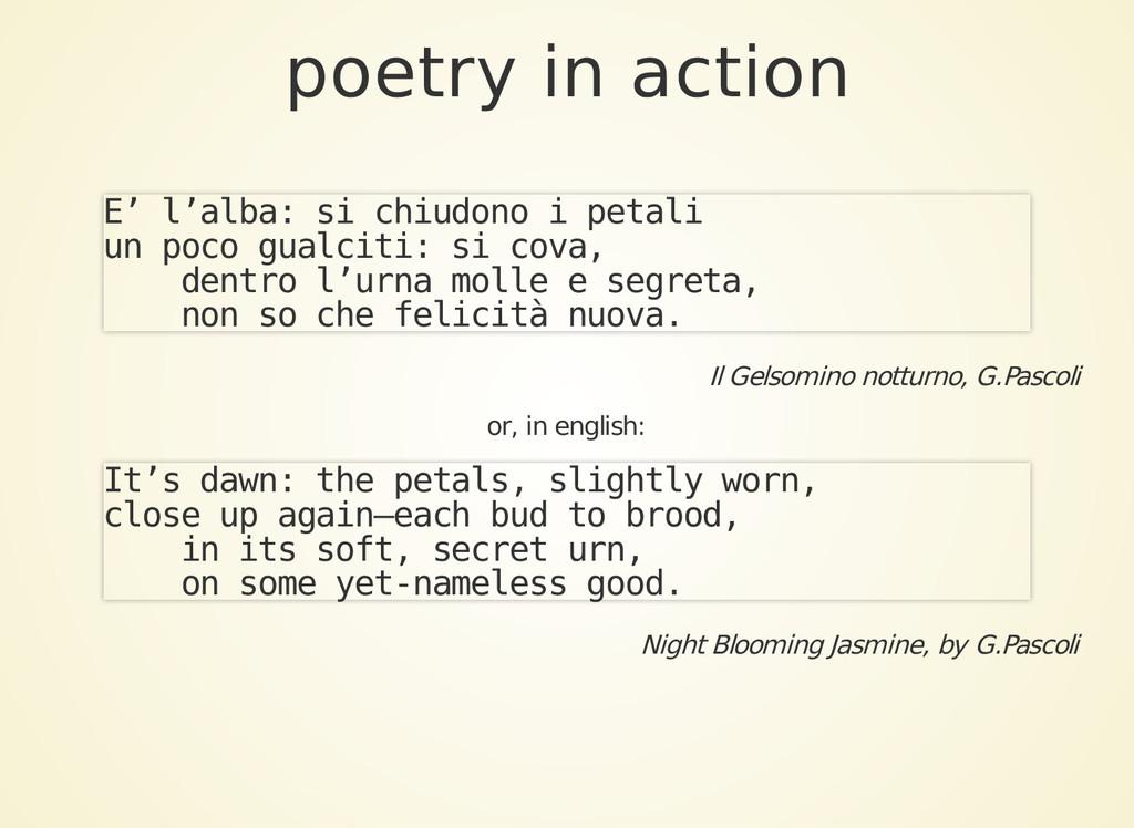 poetry in action E' l'alba: si chiudono i petal...