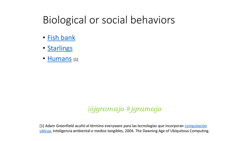 Biological or social behaviors • Fish bank • St...