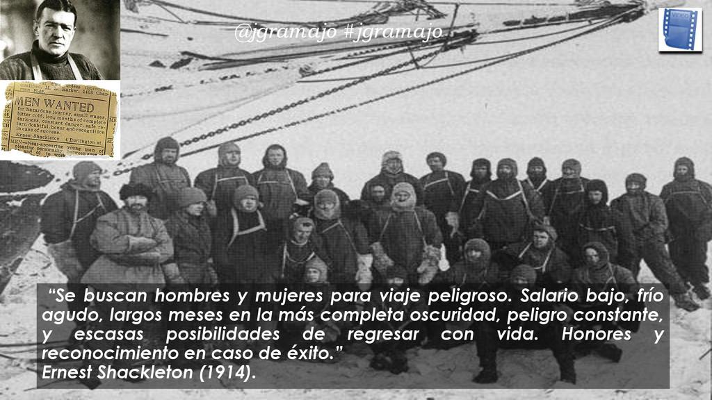 """""""Se buscan hombres y mujeres para viaje peligro..."""