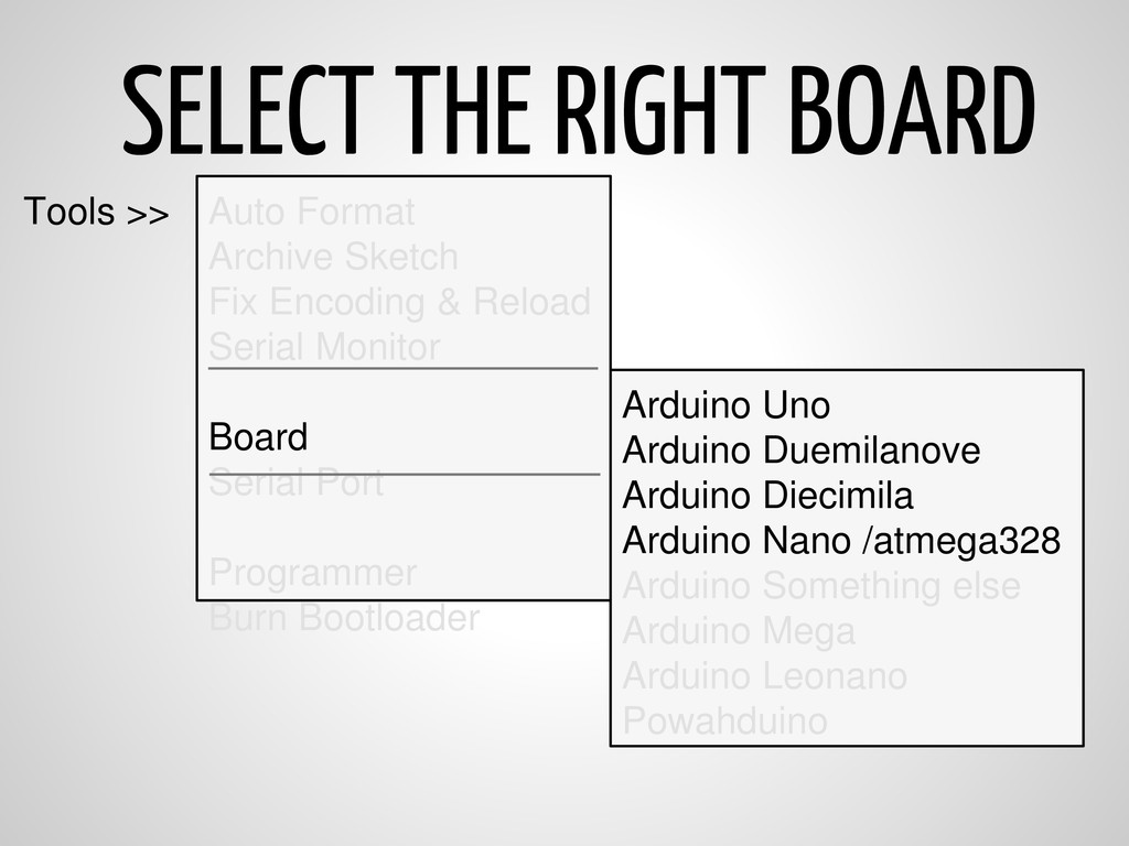 SELECT THE RIGHT BOARD Auto Format Archive Sket...