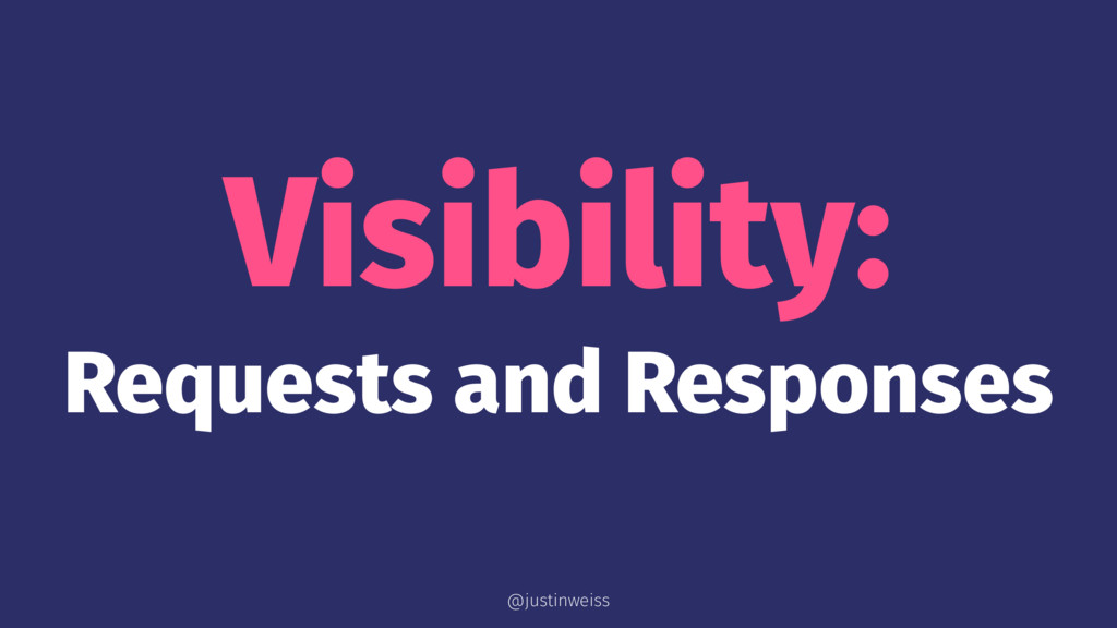 Visibility: Requests and Responses @justinweiss