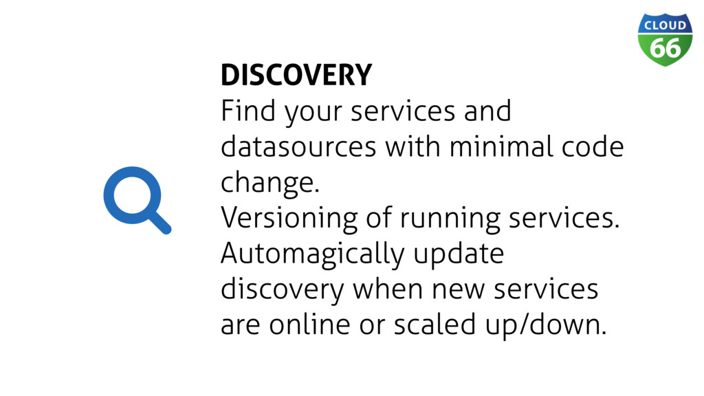 DISCOVERY Find your services and datasources wi...
