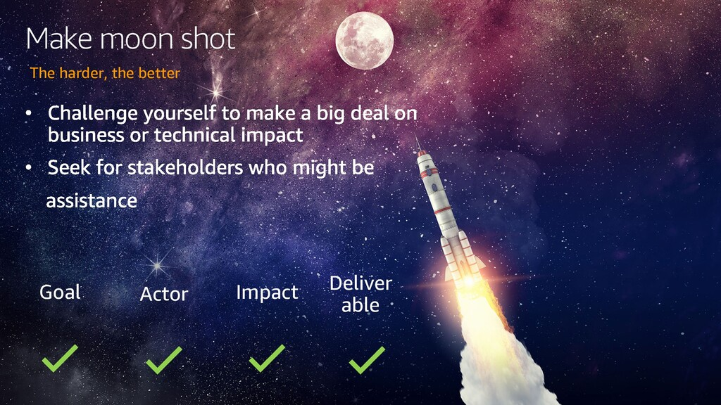 Make moon shot The harder, the better Goal Acto...
