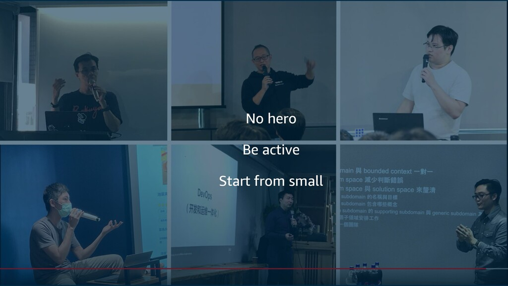 Be active No hero Start from small