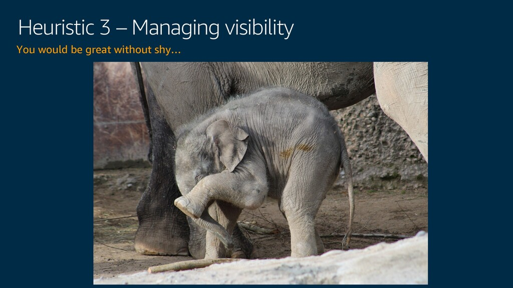 Heuristic 3 – Managing visibility You would be ...