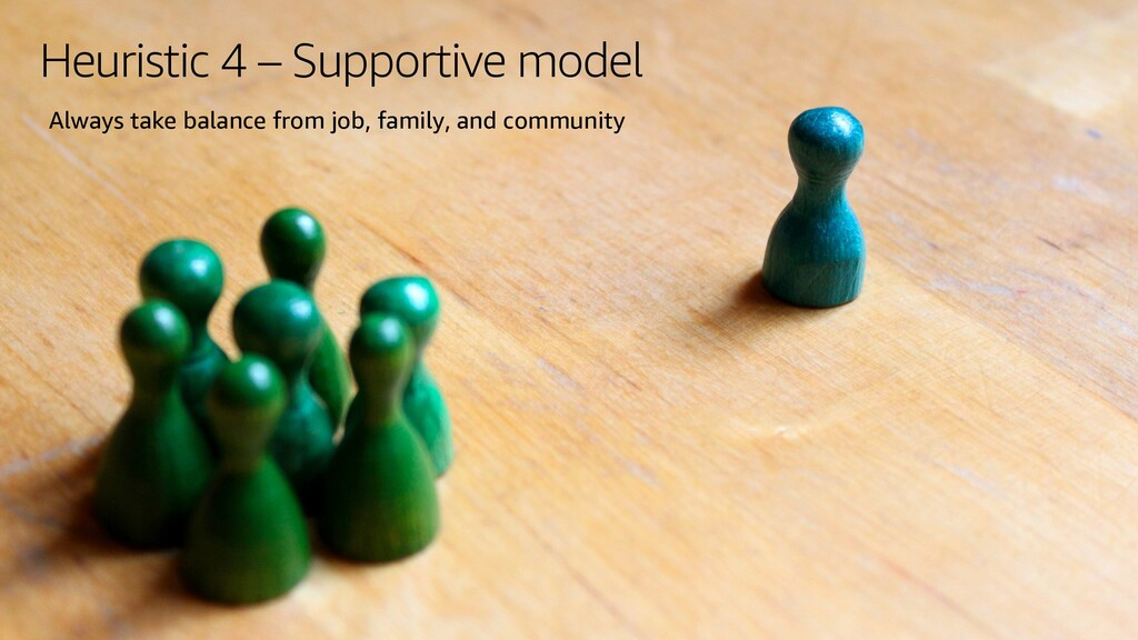 Heuristic 4 – Supportive model Always take bala...