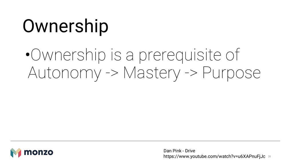 Ownership •Ownership is a prerequisite of Auton...