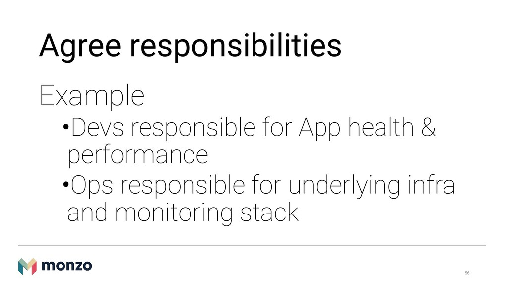 Agree responsibilities Example •Devs responsibl...