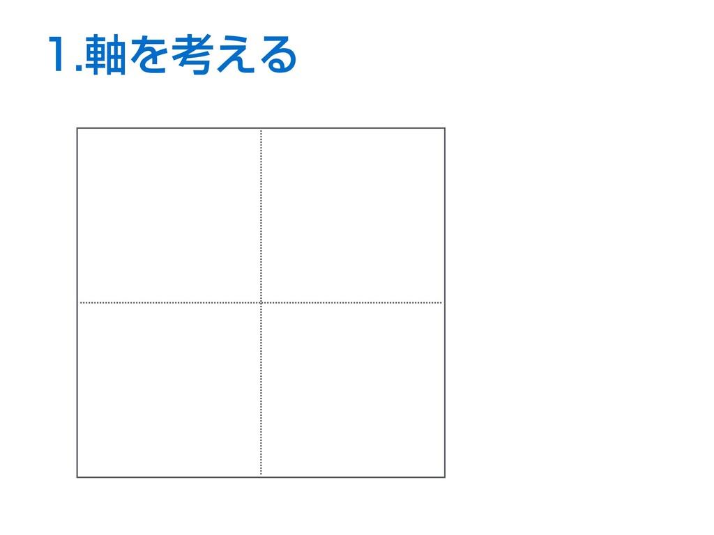 1.軸を考える B