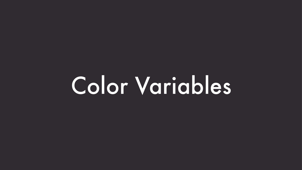 Color Variables