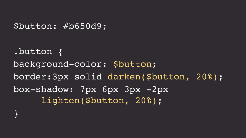 $button: #b650d9; .button { background-color: $...