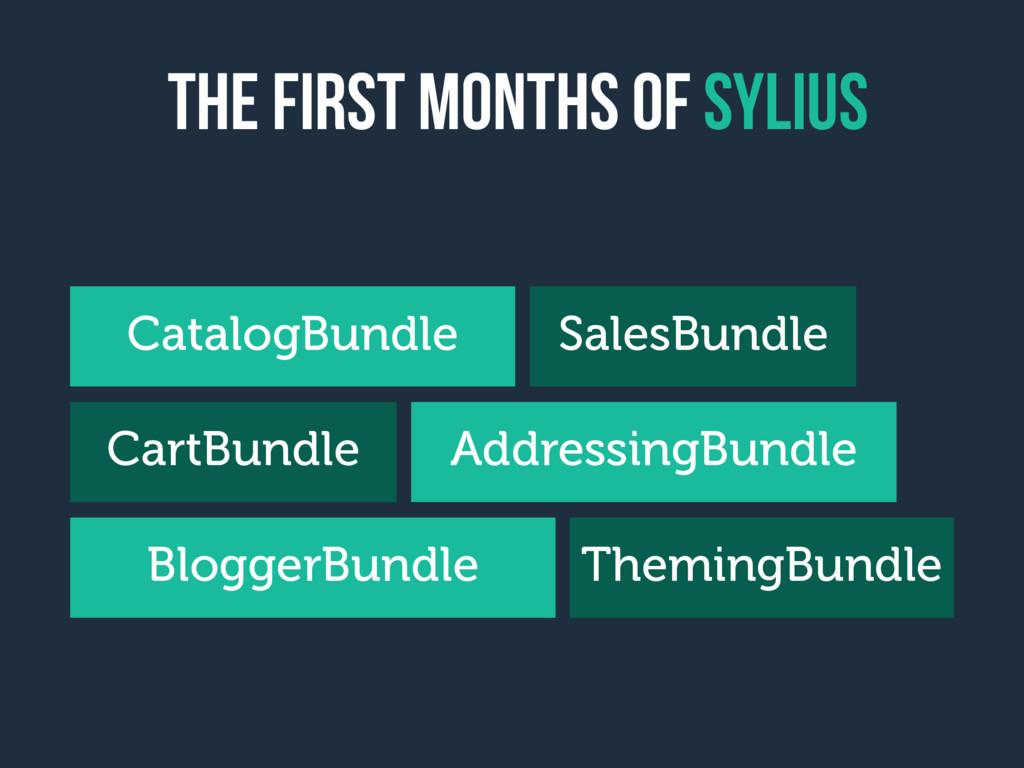 the first months of sylius CatalogBundle CartBu...