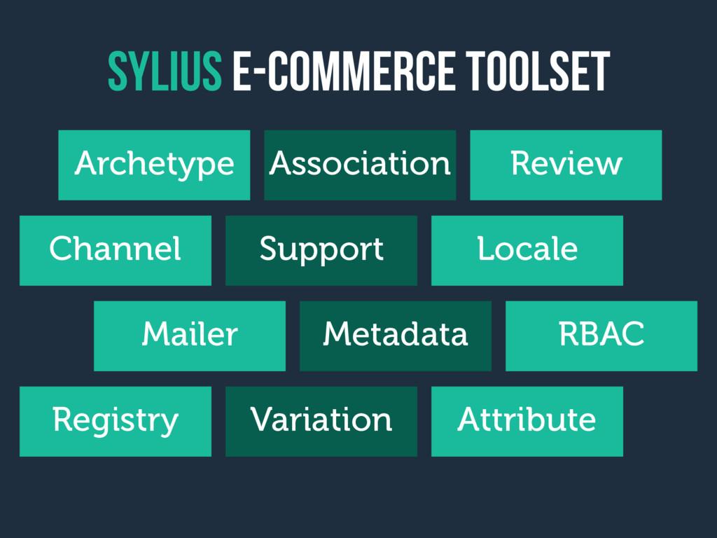 sylius e-Commerce toolset Archetype Association...