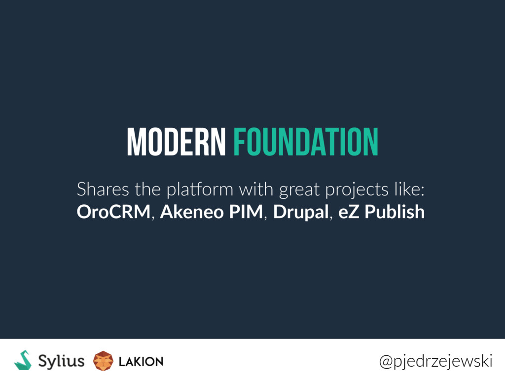 Modern Foundation Shares the plaCorm with great...