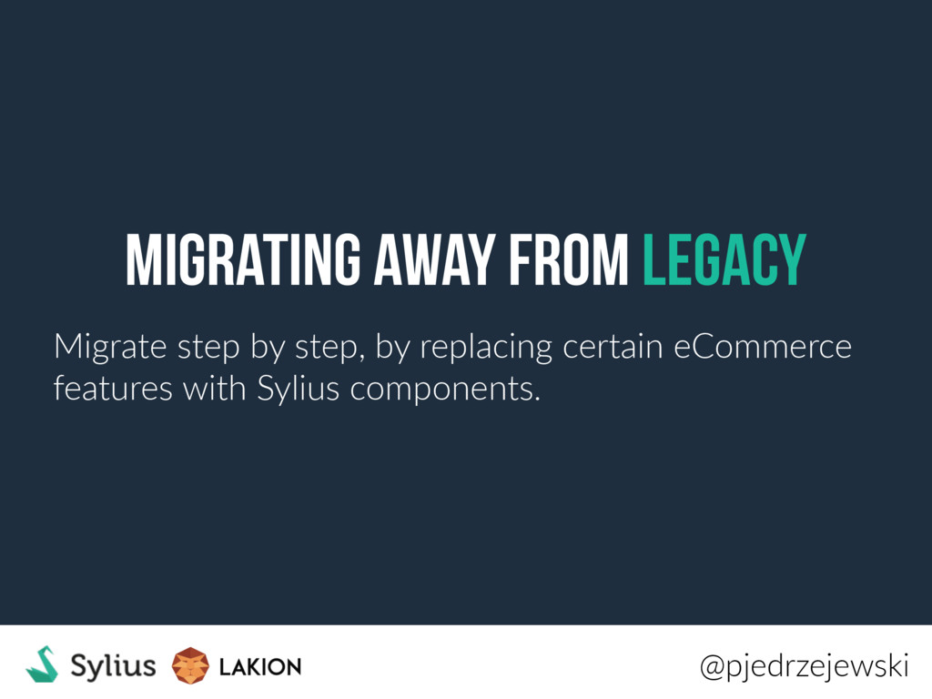 Migrating away from legacy Migrate step by step...
