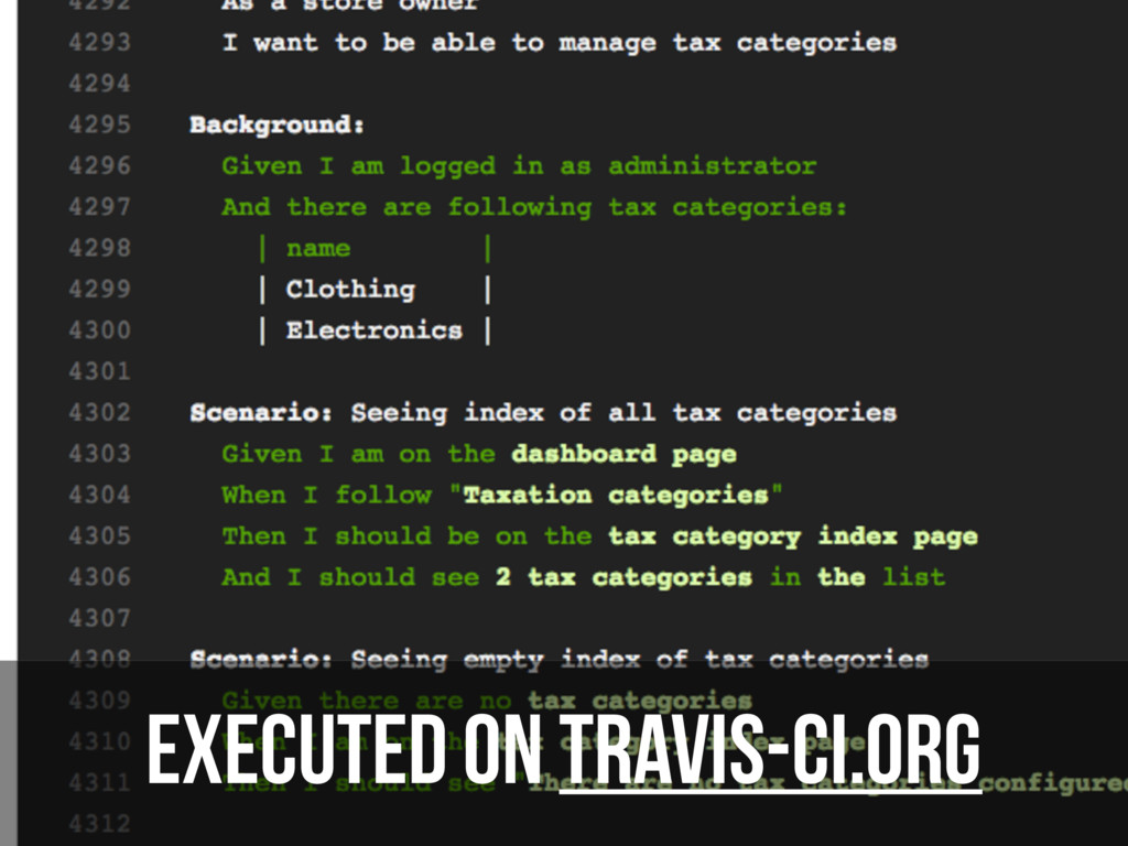 Executed on travis-ci.org