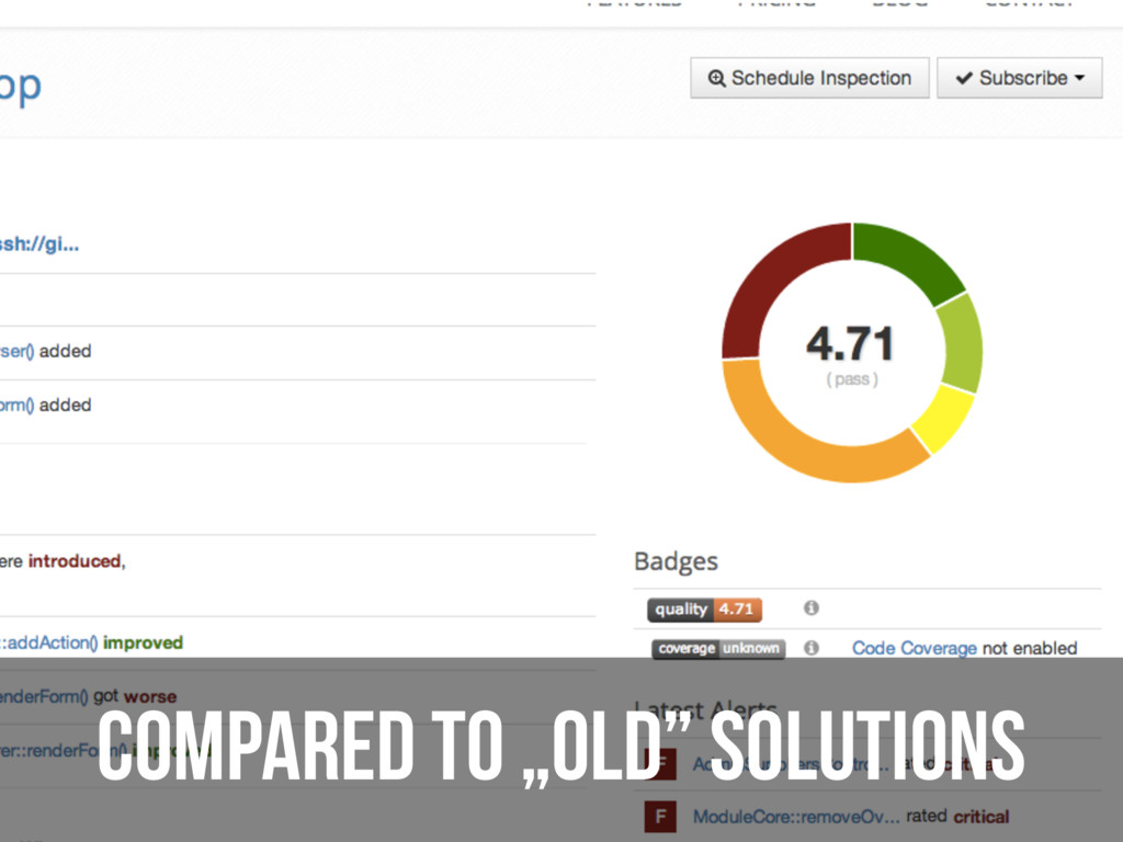 """Compared to """"old"""" solutions"""