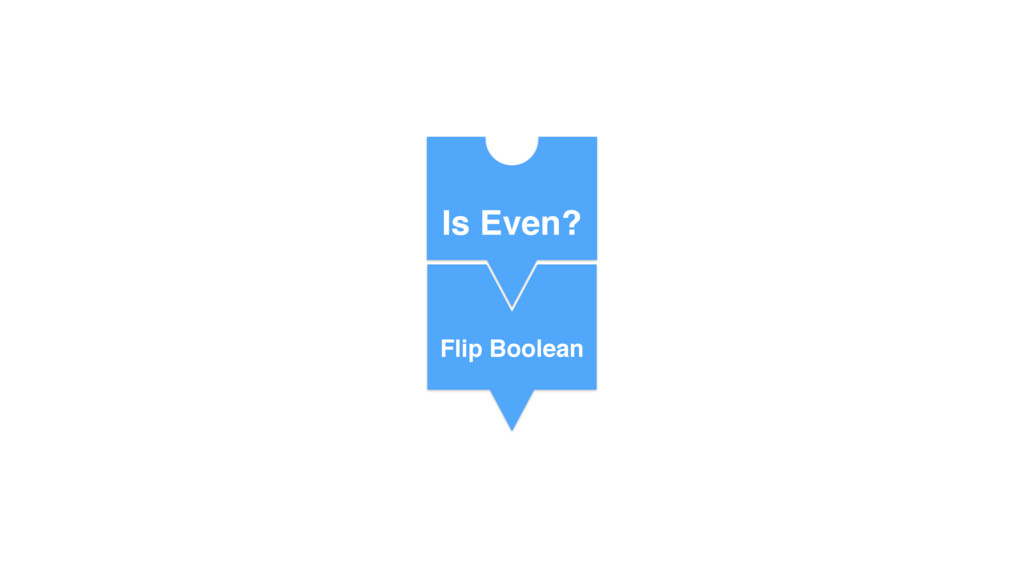 No Is Even? Flip Boolean