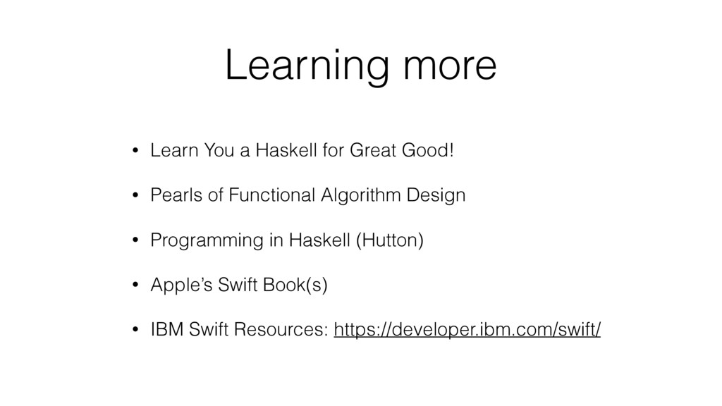 Learning more • Learn You a Haskell for Great G...