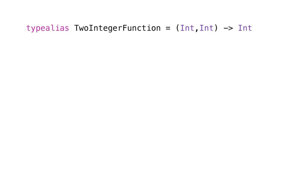 typealias TwoIntegerFunction = (Int,Int) -> Int