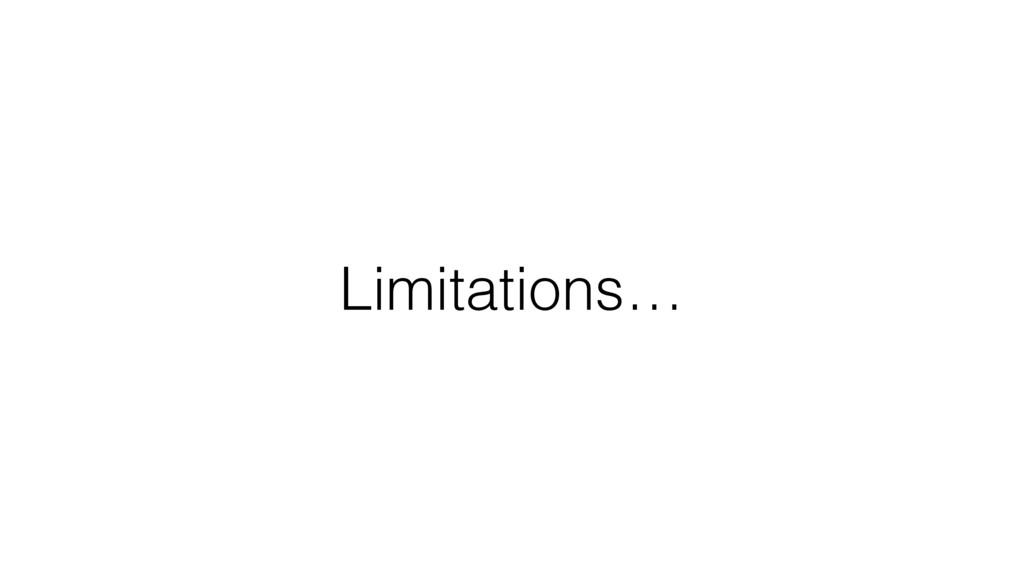 Limitations…