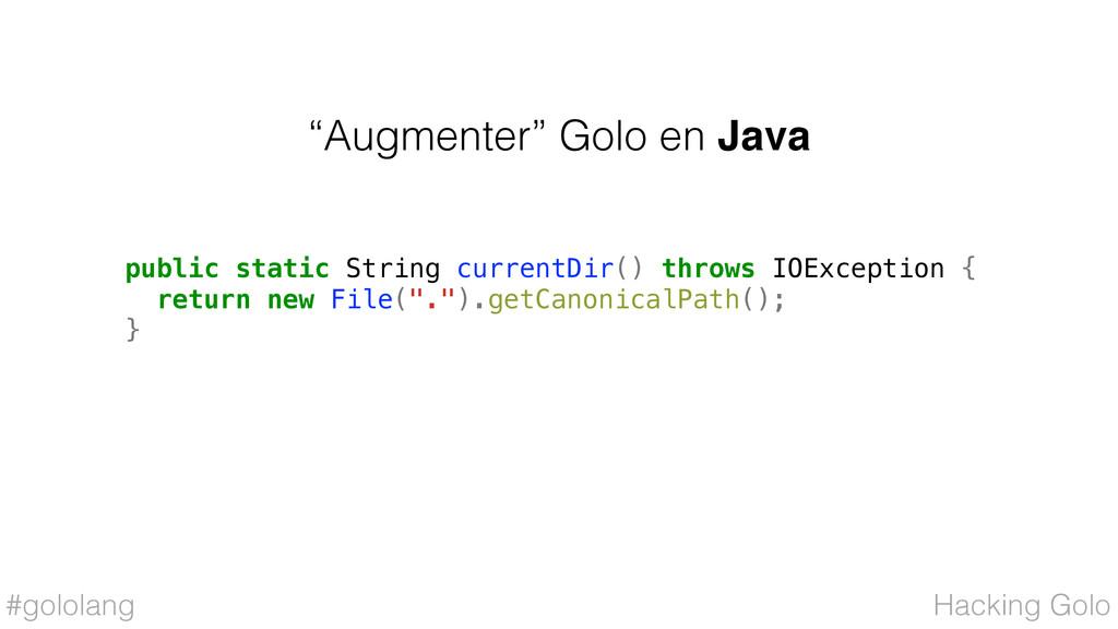 """#gololang """"Augmenter"""" Golo en Java Hacking Golo..."""