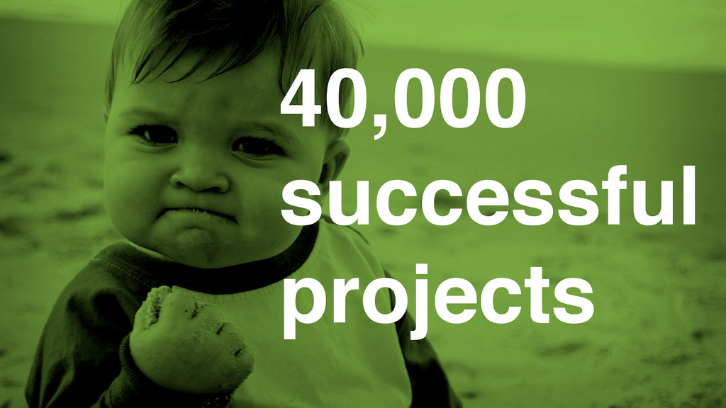 40,000 successful projects