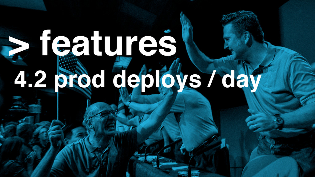 > features 4.2 prod deploys / day