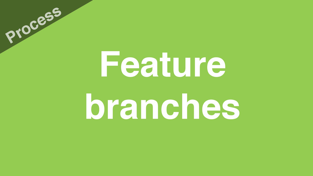 Feature branches Process