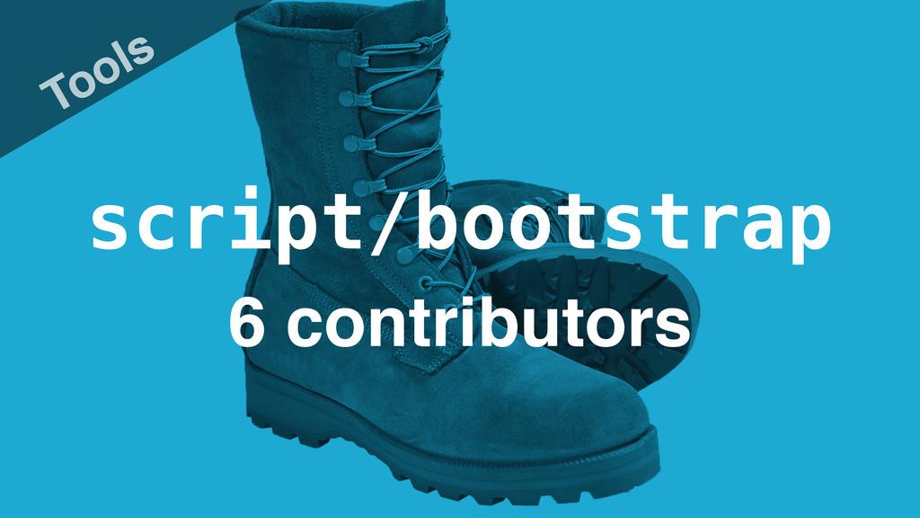 script/bootstrap Tools 6 contributors