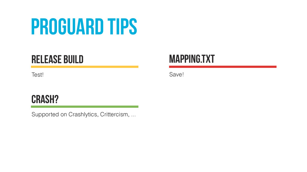 proguard tips Test! release build Mapping.txt S...