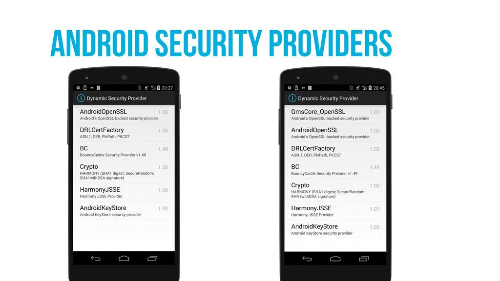 Android security providers