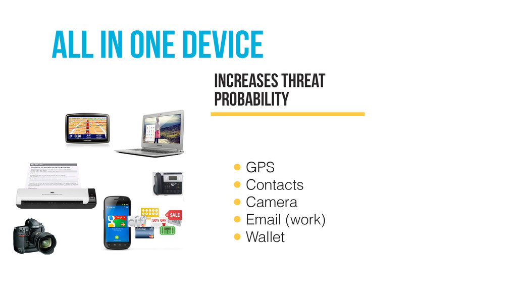 All in one device Increases threat proBability ...