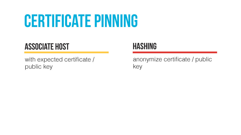 certificate pinning with expected certificate / ...