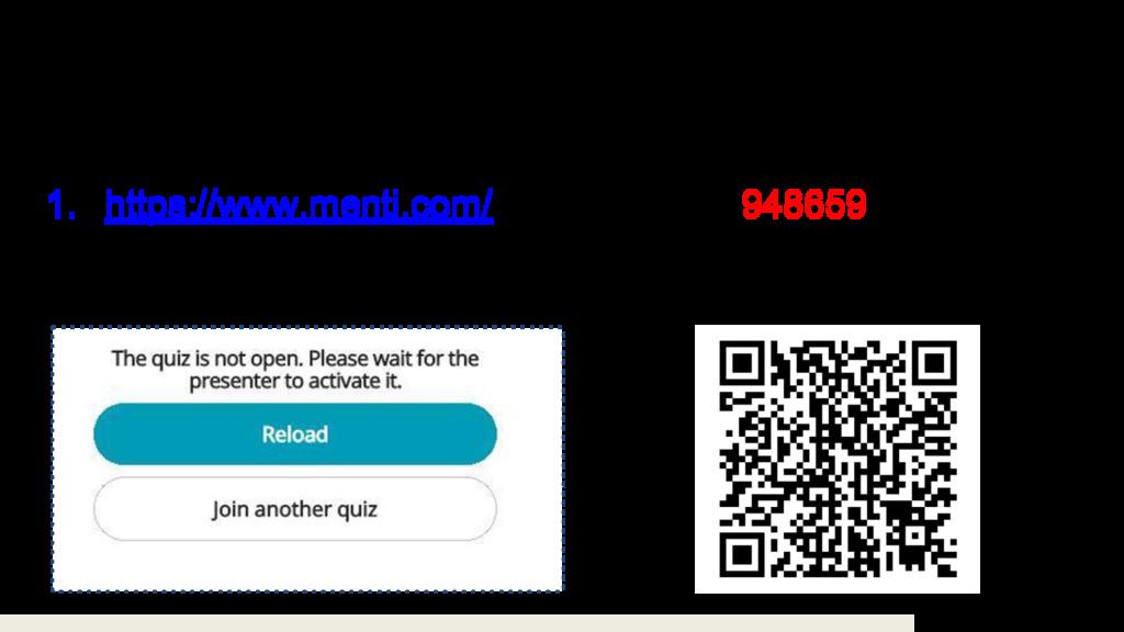 1センテンスで3択問題を3問やります! 1. https://www.menti.com/ に...