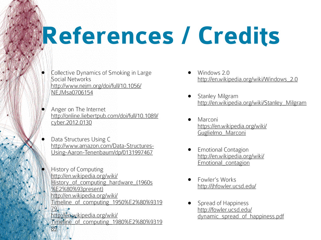 References / Credits • Collective Dynamics of S...