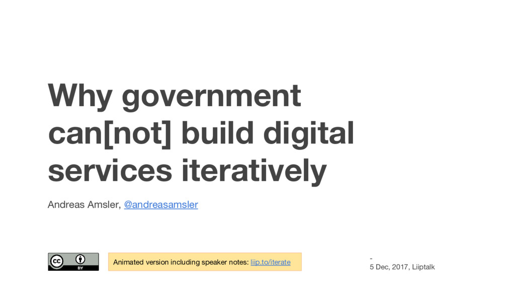 Why government can[not] build digital services ...