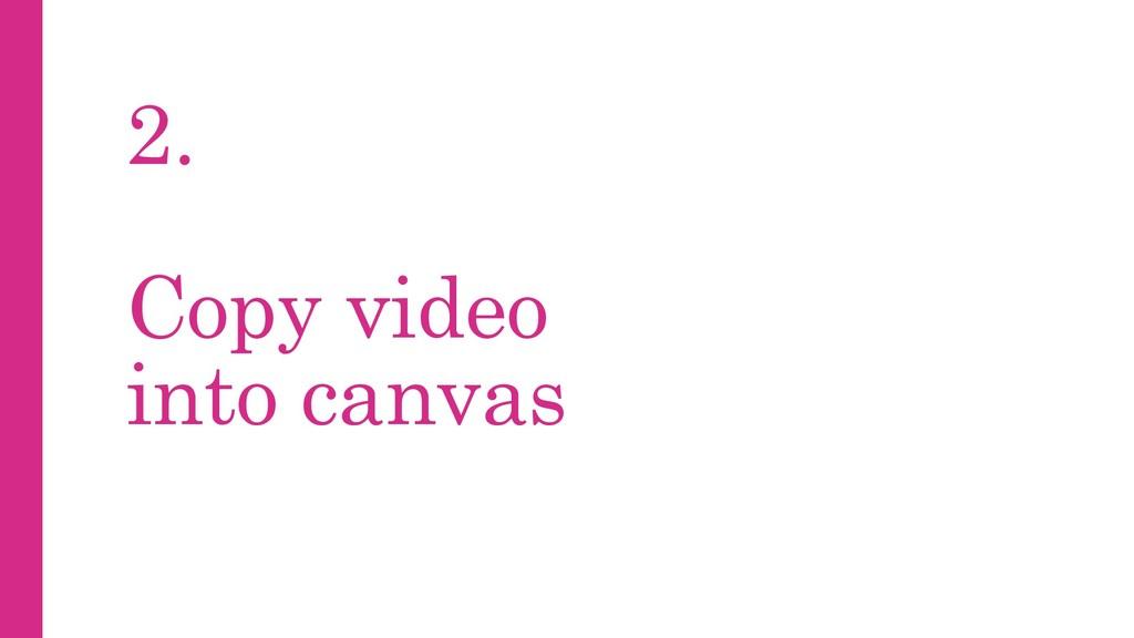 2. Copy video into canvas
