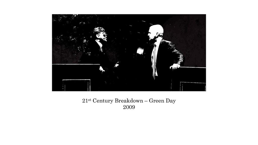 21st Century Breakdown – Green Day 2009