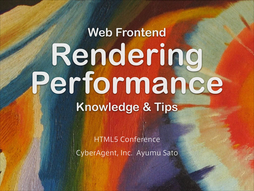 Web Frontend Rendering Per formance Knowledge &...