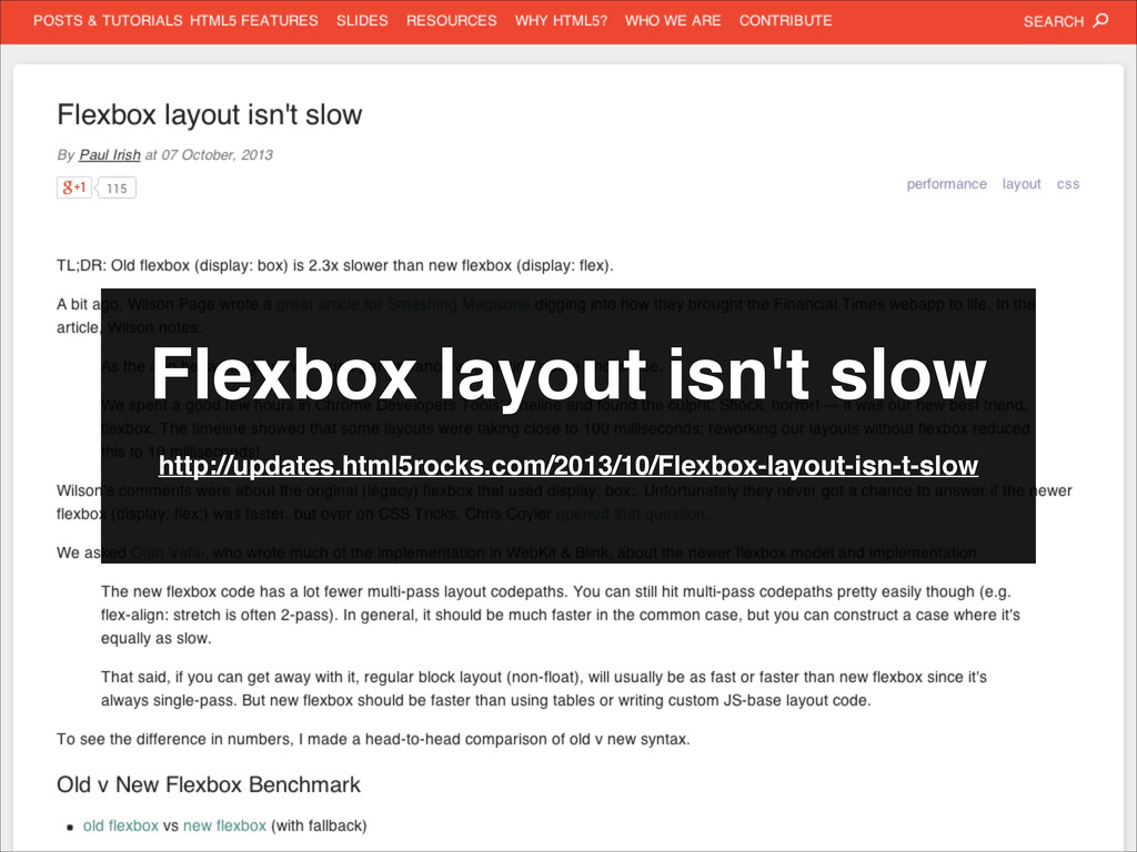 Flexbox layout isn't slow http://updates.html5r...