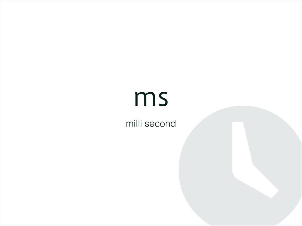 NT milli second