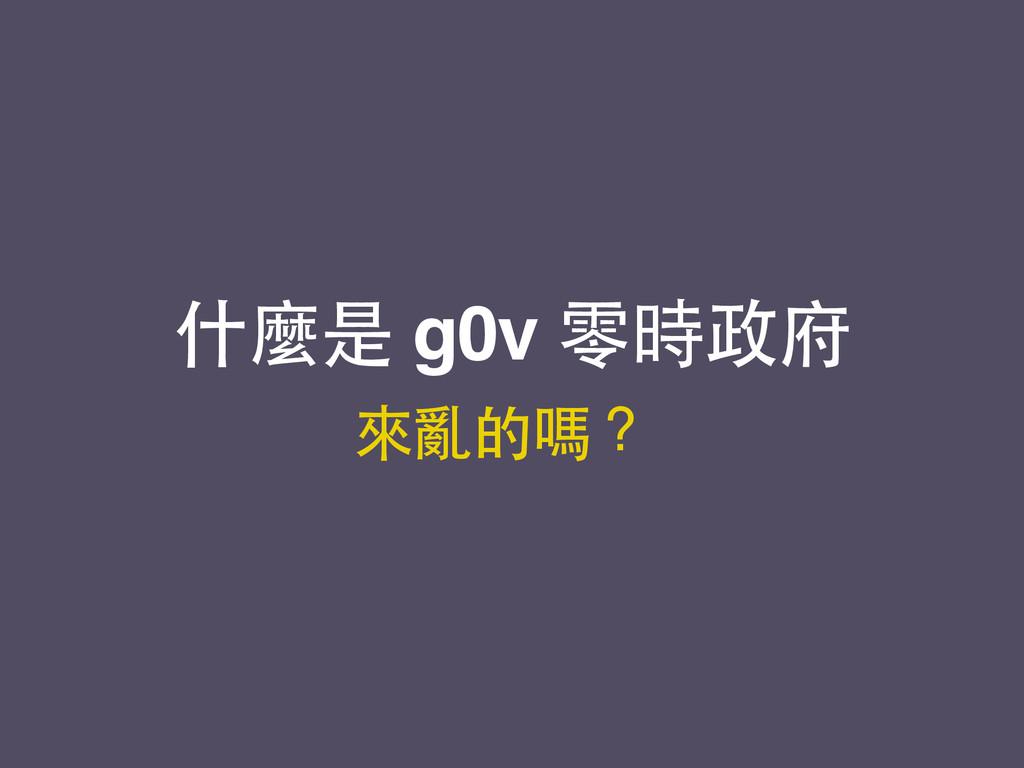 什麼是 g0v 零時政府 來亂的嗎?