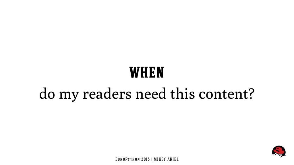 EuroPython 2015 | MIKEY ARIEL WHEN do my reader...