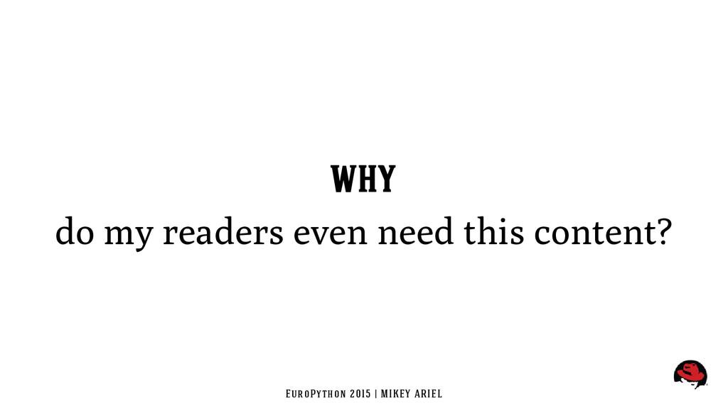 EuroPython 2015 | MIKEY ARIEL WHY do my readers...